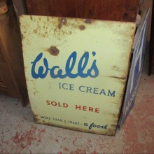 Walls vintage enamel advertising sign , 1 of 2 available