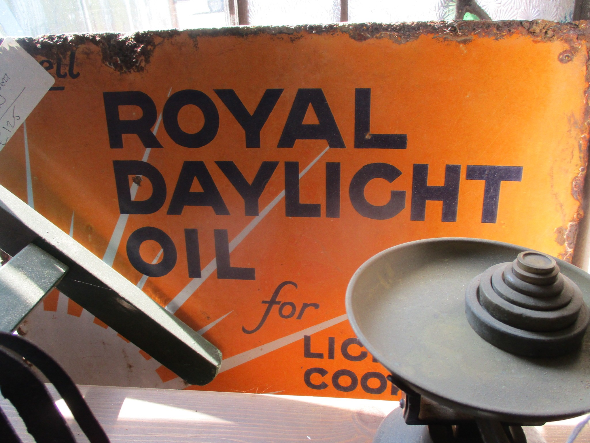 Royal Daylight Oil double sided enamel sign