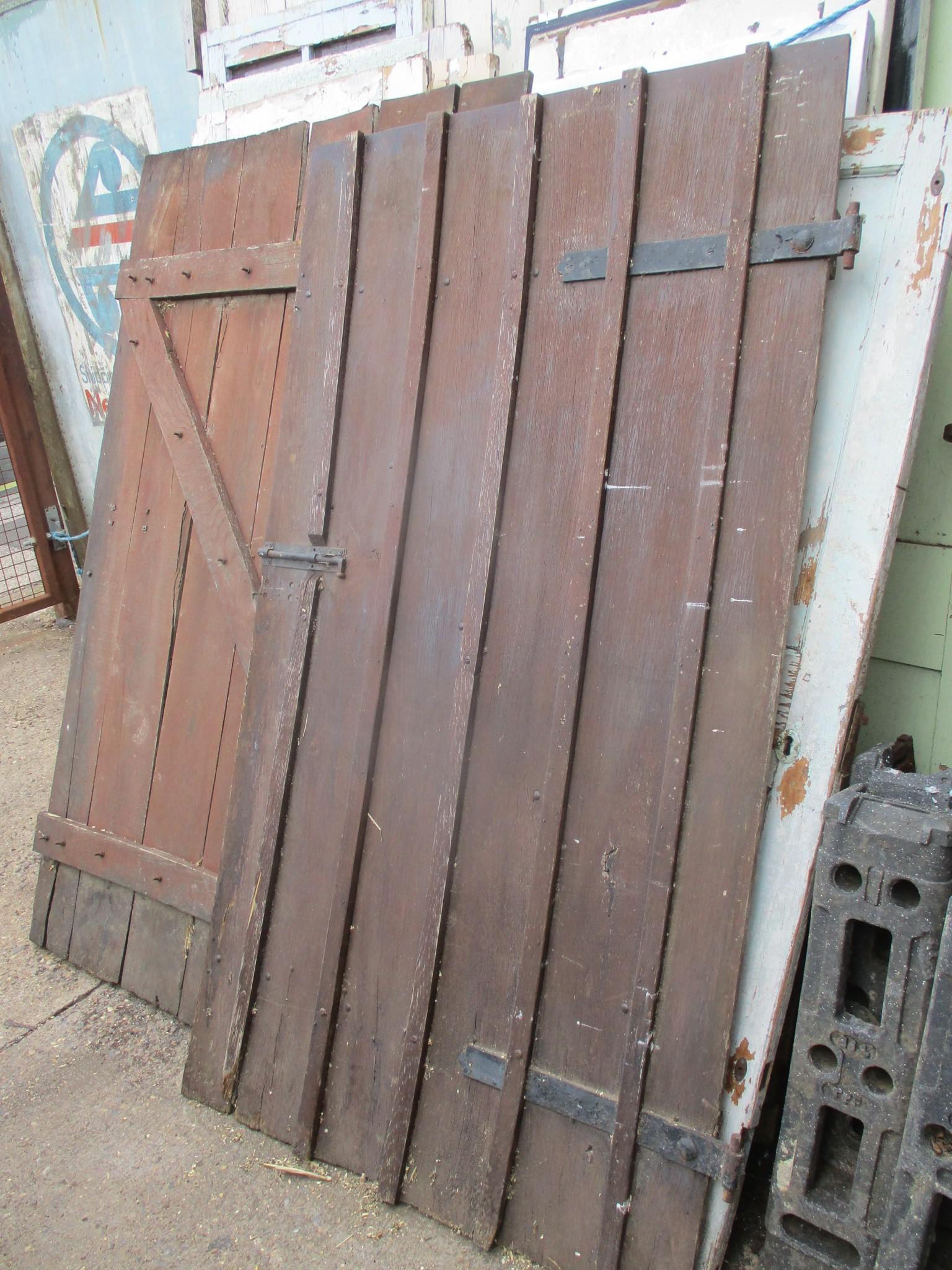 Large Oak Barn or Sliding partition doors