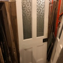 Glazed Victorian four panel door 32