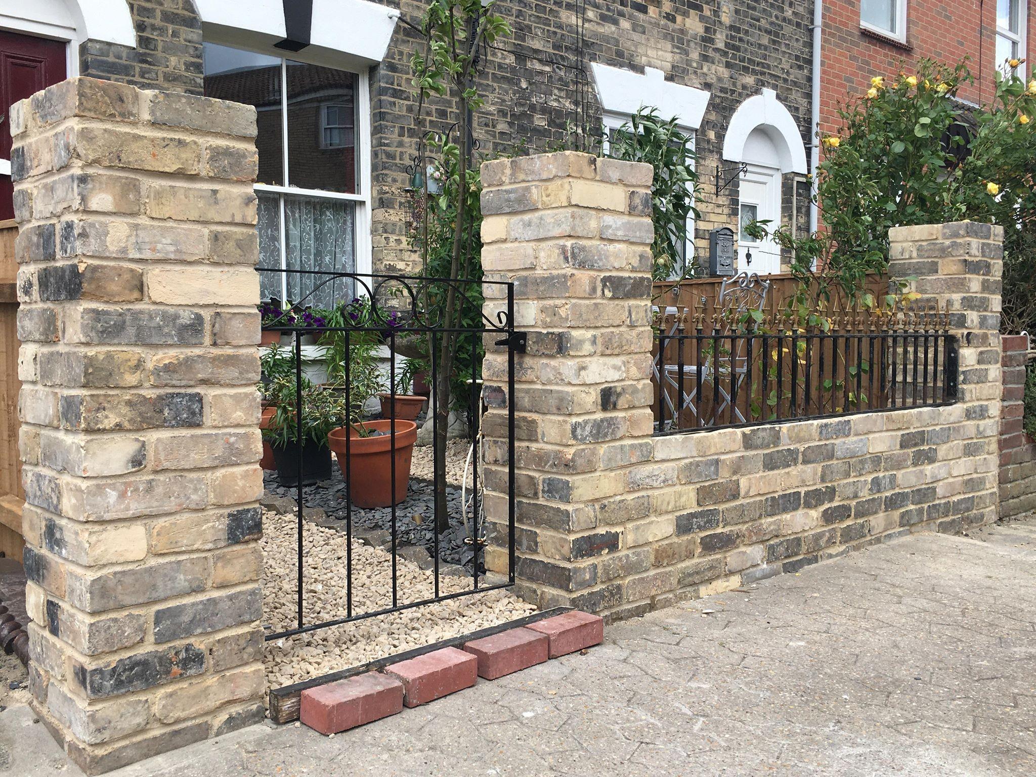 Suffolk white bricks and railings