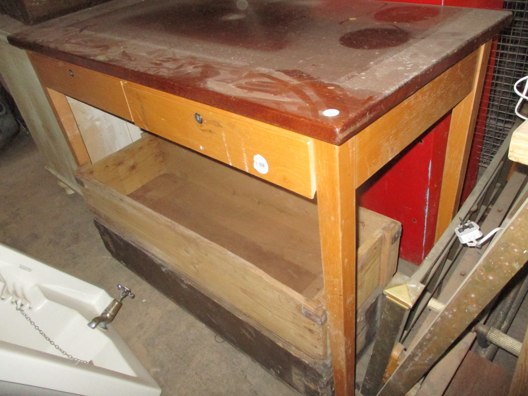 school science table - teachers version with drawers