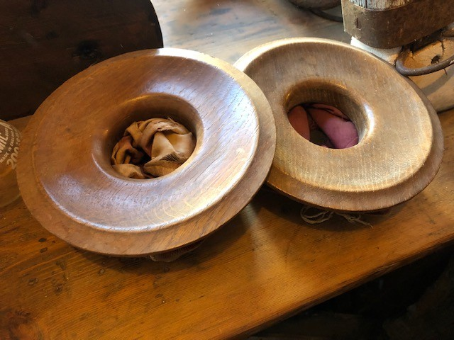 Collection bowls - oak and fabric