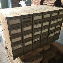 Pigeonhole parts storage drawers