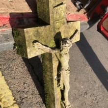 Cross - stone with Jesus 39
