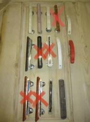 Door furniture - vintage handles.