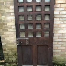 Castle Door oak part glazed
