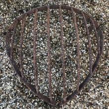 Hayrack - corner style wrought iron
