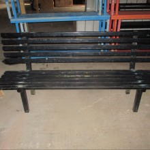 Benches - metal school external type with back