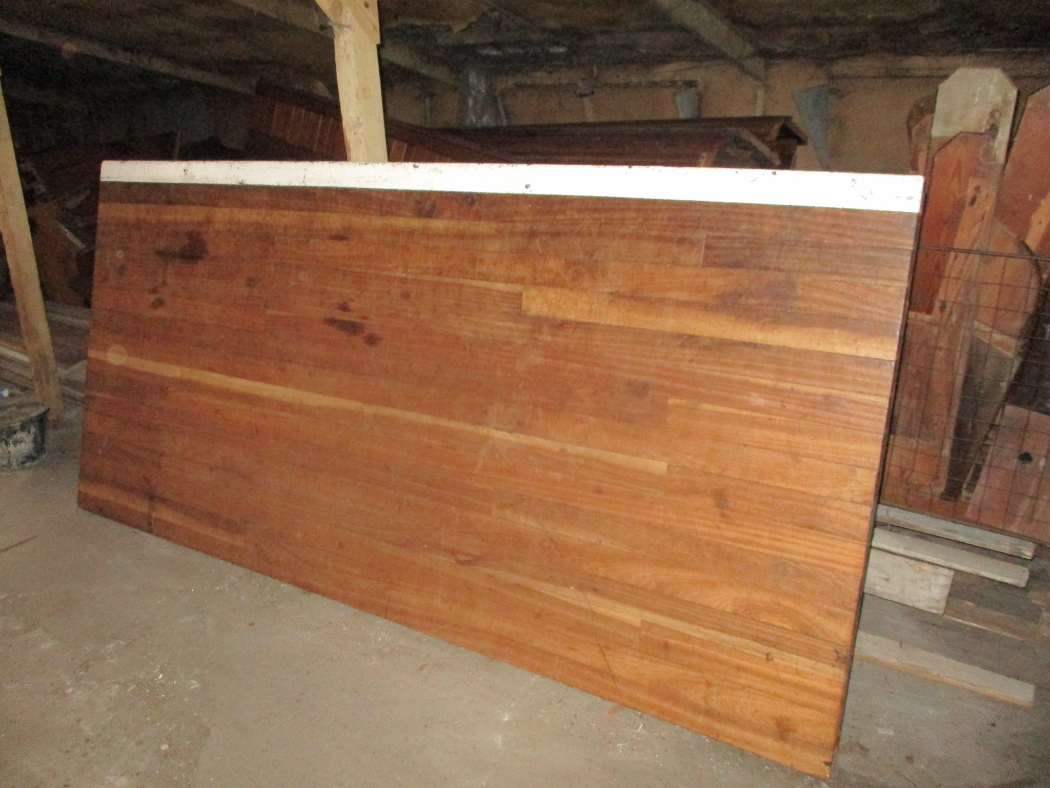 Iroko stage section or worktop