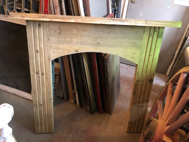 fire surround - routed legs