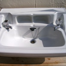 Standard shelved  vanity basin sink