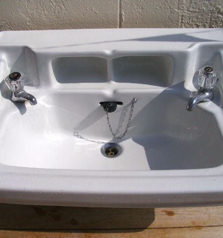 Standard shelved  vanity basin sink