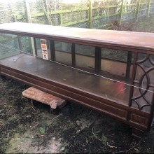 Shop Counters - oak and glass