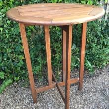Tables - Poseur tall folding teak types
