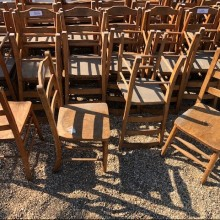 Chairs - traditional vintage wooden chapel 17