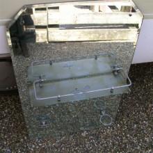 Bevelled vintage glass vanity mirror