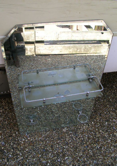 Bevelled vintage glass vanity mirror