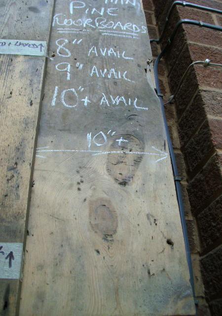 10inch wide Georgian Floorboard , NOT re-sawn