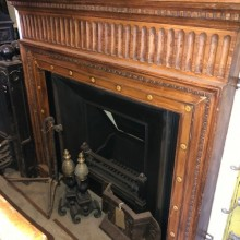 Royal Arch and Reclaimed hardwood decorative surround