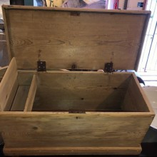 Chest - small pine chest or workbox.