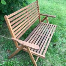 Bench - teak folding 2 seater