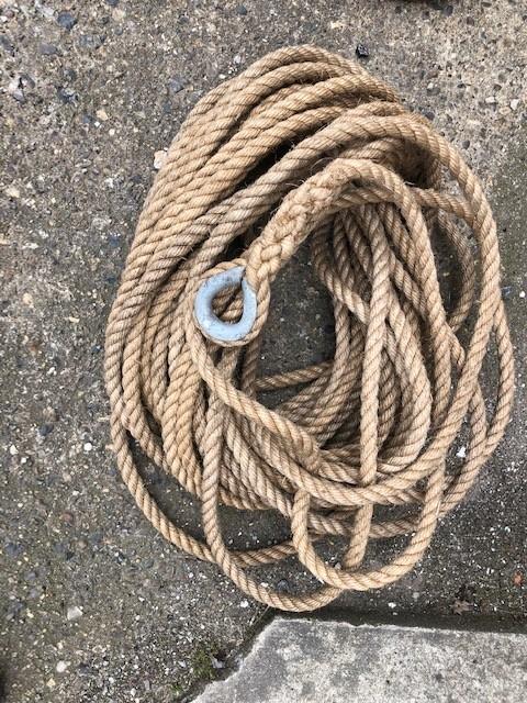 Rope - Hemp 25m with metal eye