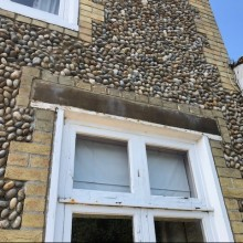 Grade 2 listed schoolhouse exposed window lintels