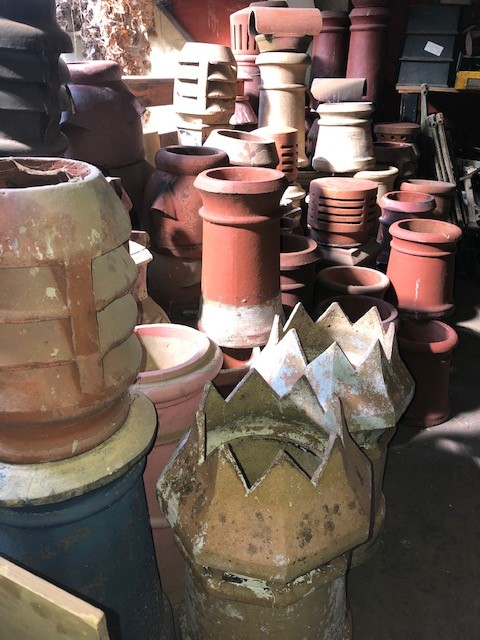 Chimney Pots - wide assortment in stock, all sizes and shapes.