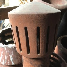 Gas Vent Chimney Cap in RED