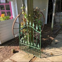 Gate - wrought iron decorative with spider and web 34