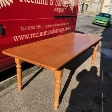 Table - large pine dining 8ft x 3ft x 30