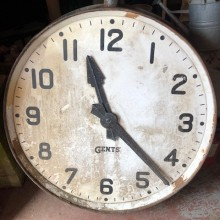 Factory Clock - Large Gents of Leicester 3ft dia