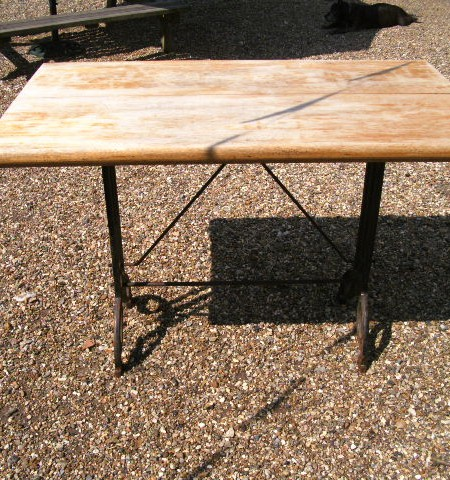 Iron and American Oak tables