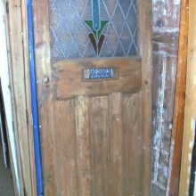 Art Deco period leaded front door