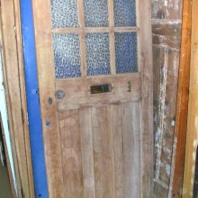 1930's external front door plain glass