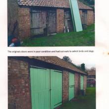 Victorian Village Hall sliding partition doors