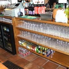 Methodist Pew Maranti Oak upcycled into Bar backs