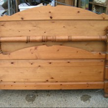 King sized pine bed frame