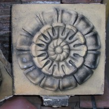 Ruabon Rose patterned brick tile