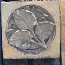 Ruabon Leaf patterned brick tile