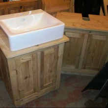 Pair bespoke vanity units
