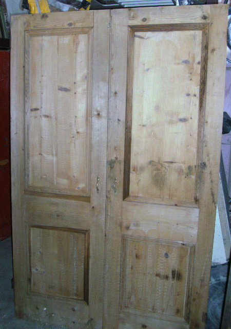 Pair cupboard doors 49 1/2