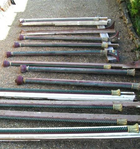 Shop Front - Set 12 Victorian Shop front cast iron decorative twist pillars