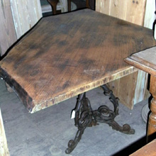 Iron Based Corner Table