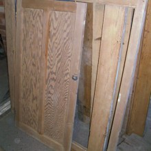 single cupboard door and frame
