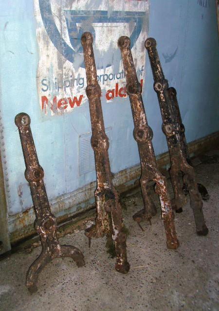 Railing posts - Cast Iron horizontal railing posts
