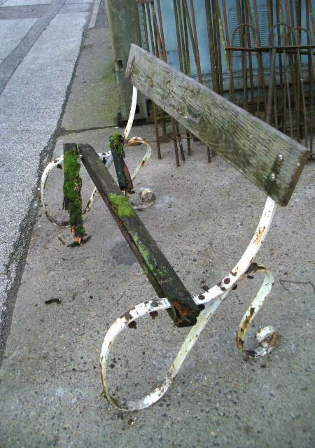Art Nouveau cast iron bench ends