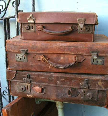 Suitcases  - vintage leather
