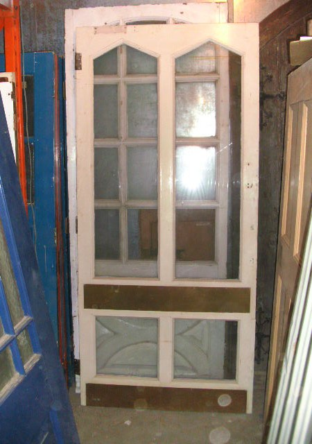Large Glazed External or internal door with feature brass plates 41